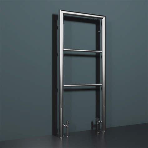 chrome floor mounted heated towel rail milli