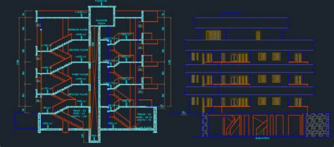 apartments  dwg design plan  autocad designs cad