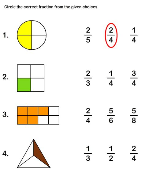 learn fraction worksheet 2