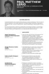 resume template communications specialist digital marketing resume sles visualcv resume sles