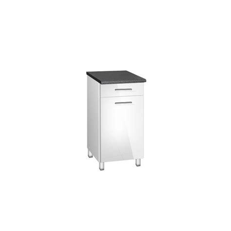 meuble cuisine avec tiroir meuble de cuisine bas 40 cm 1 tiroir tara avec pieds réglables