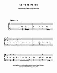 Adele - Set Fire To The Rain sheet music