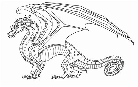 The Honeybadger Html Page Templates by Wings Of Fire Seawing Coloring Pages 2804587