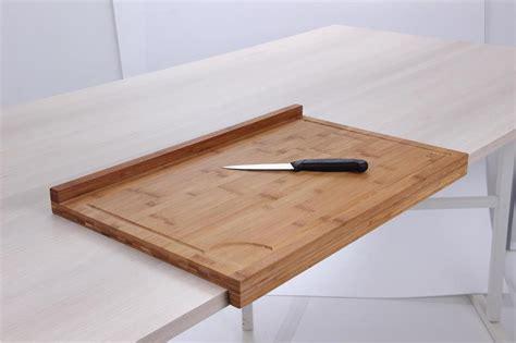 planche plan de travail planche de travail en bambou grand mod 232 le avec rebord tom press