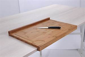 Support Plan De Travail : planche de travail en bambou grand mod le avec rebord ~ Farleysfitness.com Idées de Décoration