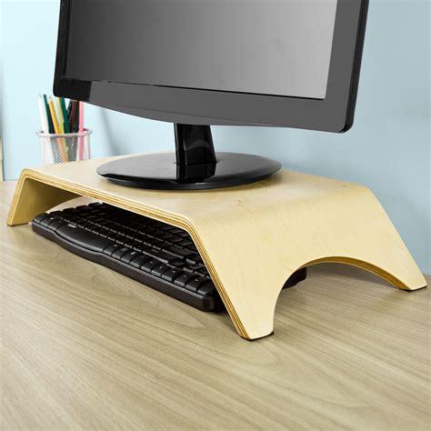 support ecran bureau sobuy support moniteur écran ergonomique pc tv lcd bois