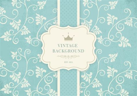 vintage floral background vector graphic anniversary