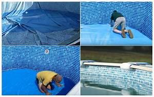Liner Piscine Hors Sol Ronde : gr liner mosa que pour kit piscine hors sol en acier ~ Dailycaller-alerts.com Idées de Décoration
