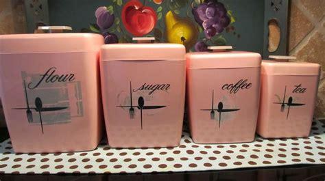 pink kitchen canister set vintage pink kitchen canisters shabby chic pinterest vintage kitchen canisters and pink