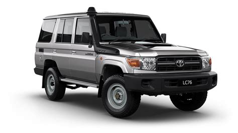 The toyota land cruiser leaves all other 4x4s behind with driving pleasure that just carries on growing as the kilometers roll by. Toyota Land Cruiser 70 LC76 Station Wagon