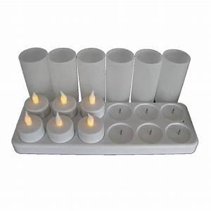Plateau Pour Bougie : plateau 12 bougies led jaunes rechargeables lux et d co ~ Teatrodelosmanantiales.com Idées de Décoration