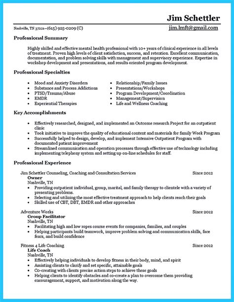 Guidance Counselor Resume Objective by Outstanding Counseling Resume Exles To Get Approved