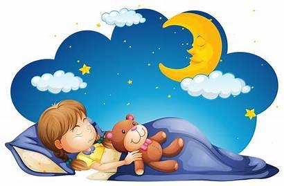 Sleeping Night Clipart Vector Nap Sleep Children