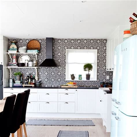 moroccan style kitchen tiles black and white kitchen with handmade arabic cement tiles 7851