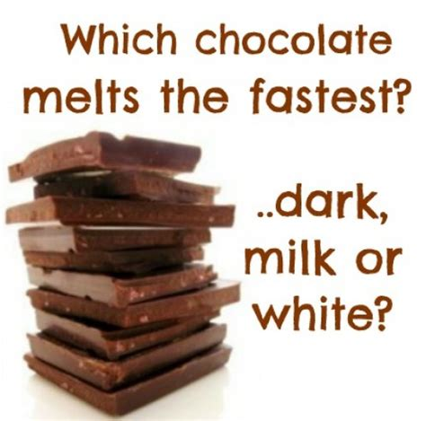 colored chocolate melts which chocolate melts the fastest and why milk or
