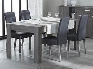 Chaise de salle a manger en polyurethane et bois lot de 2 for Deco cuisine avec chaise de salle a manger cuir