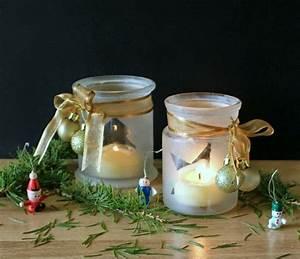 Pot En Verre Deco : diy pot en verre deco ruban et boules de noel dor s ~ Melissatoandfro.com Idées de Décoration
