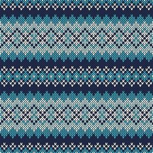 Seamless Fair Isle Knitted Pattern Festive and
