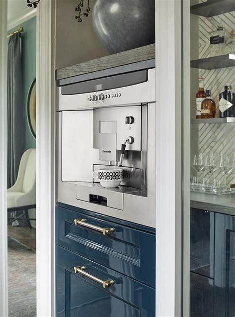 coffee maker  microwave hidden  cabinets
