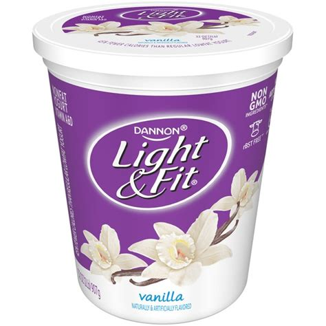 dannon yogurt light and fit dannon light fit vanilla nonfat yogurt from h e b