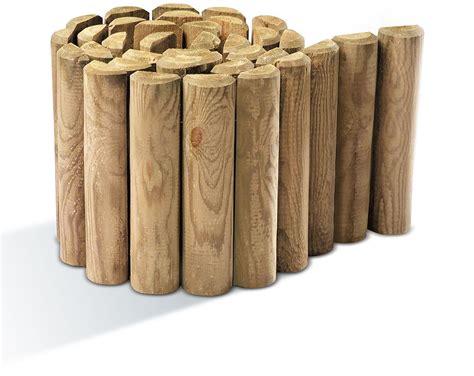 bordures de jardin en bois bordure de jardin en bois 224 d 233 rouler 180 x 5 x 30 cm