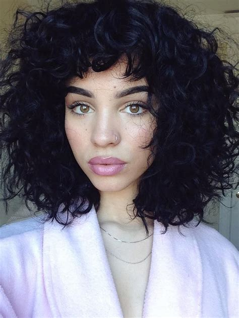 naturally curly hair with bangs hairstyles 1000 ideas about bangs curly hair on pinterest