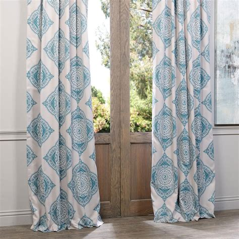 henna teal 108 x 50 inch blackout curtain single panel