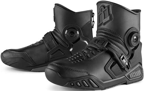 cheap motorcycle riding shoes 180 00 icon mens accelerant leather boots 231897