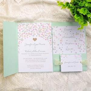 affordable mint green polka dot pocket wedding invitations With wedding invitation designs mint green
