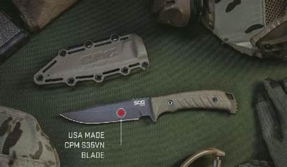 Sog Fixed Knife Pillar Knives Blade Ltd