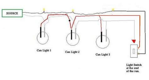 wiring recessed lights in series diagram
