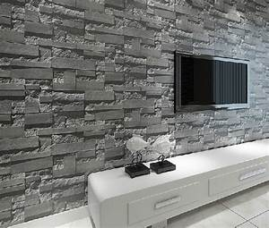 Aliexpress.com : Buy Stacked brick 3d stone wallpaper ...