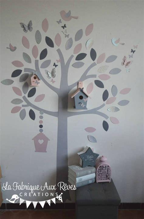 d馗o chambre violet gris stickers chambre bebe garcon jungle