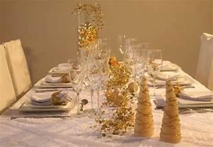 Table De Fete Decoration Noel : dressage de table d co de table de no l blanc et or ~ Zukunftsfamilie.com Idées de Décoration