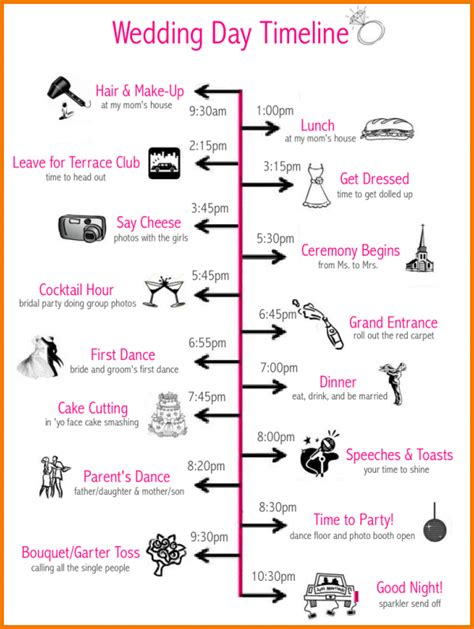 wedding day timeline template 6 wedding day timeline template free expense report