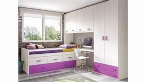 Lit Pour Ado : chambre de fille ado sympa avec lit gigogne glicerio ~ Melissatoandfro.com Idées de Décoration