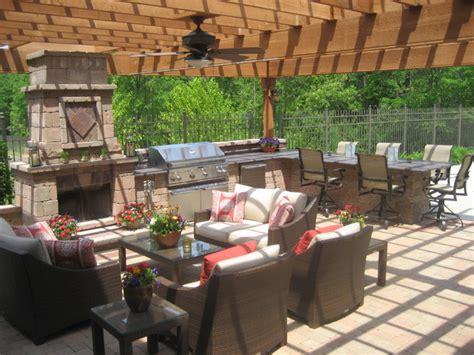 Outdoor Patio Area by Outdoor Pergola Traditional Patio Chicago