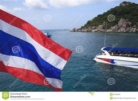 Driving Boat In Dream by Nang Yuan Island At Koh Tao Thailand Editorial Image