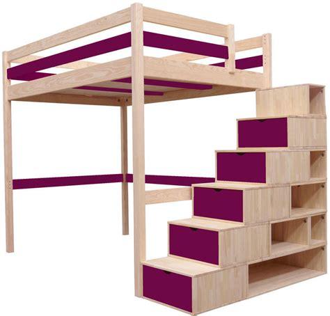 chambre pour enfant avec un lit mezzanine en bois brut et toboggan ask home design