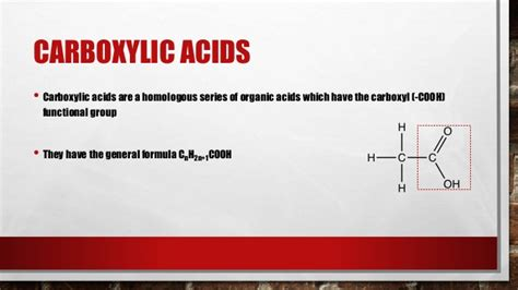 carboxylic acids  levels chemistry