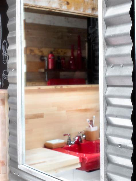 Diy Industrial Bathroom Mirror by Photo Page Hgtv