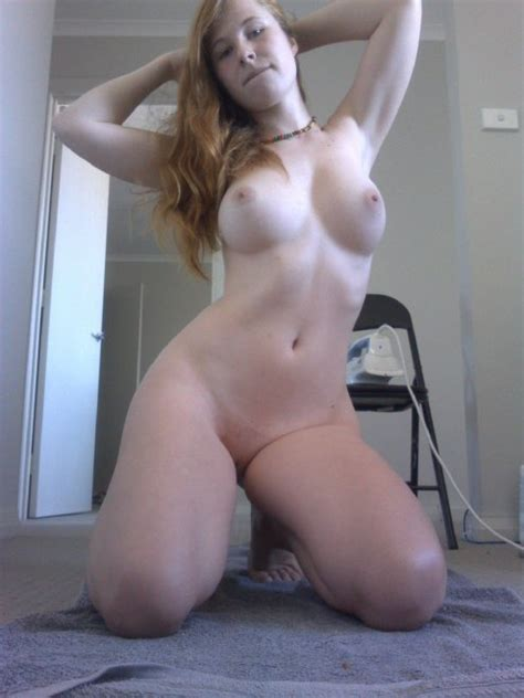 Hot Pale Looking Woman Got Big Fake Tits And She Kneels In
