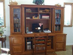 21 wonderful office furniture built in cabinets yvotubecom for Home office built in furniture