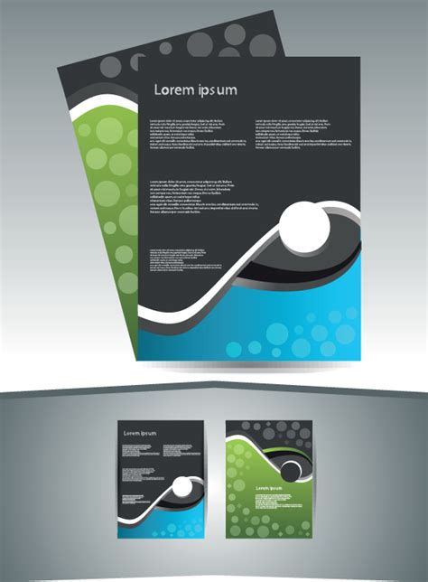 abstract business flyer cover template vector  vector