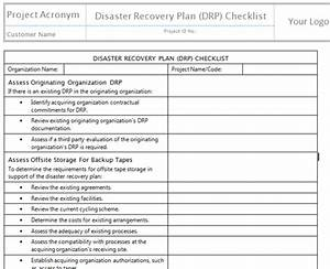 disaster recovery plan template cyberuse With disaster recovery plan checklist template