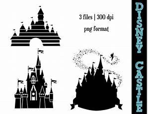 Disney Princess Castle Silhouettes // Castles Silhouette