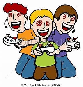 Video Game Addicted Kids An Image Of A Three Children