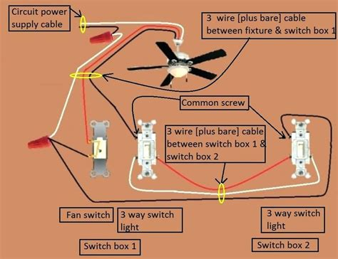 ceiling fan 3 way switch wiring diagram www