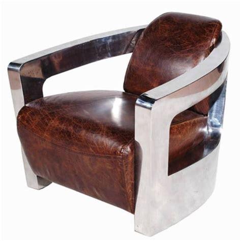 canape cuir vieilli vintage fauteuil vintage en cuir vieilli italien et inox ponza