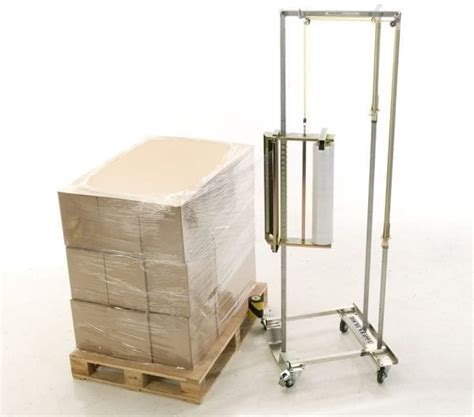 mobile manual stretch wrapping materials handling